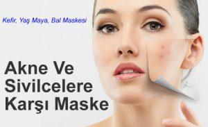 Akne Ve Sivilcelere Karşı Maske